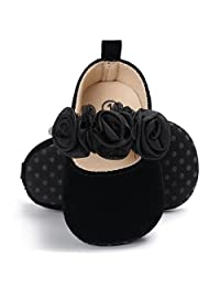 BENHERO Baby Infant Girls Soft Sole Floral Princess Mary Jane Shoes Prewalker.