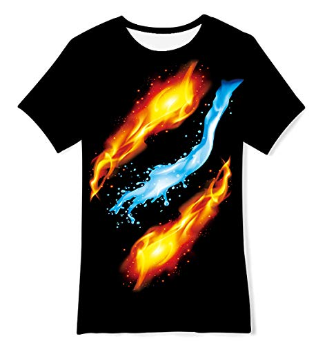 TUONROAD Kids Boys Girls T-Shirts 3D Print Summer Tops T-Shirt Age 6-8 Years