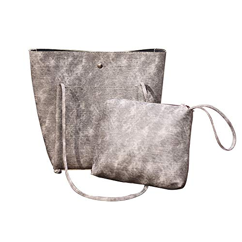 Gray Tote Faux Womens Minimalist Shoulder Clearance Handbag Cut ZOMUSAR Leather Trend qvnwF7