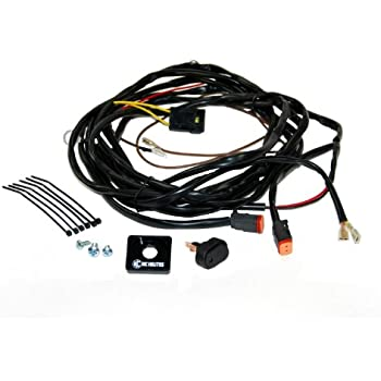 amazon com kc hilites 6315 wiring harness 40 amp relay and led kc hilites 6308 110w wiring harness 2 pin deutsch connector for two lights