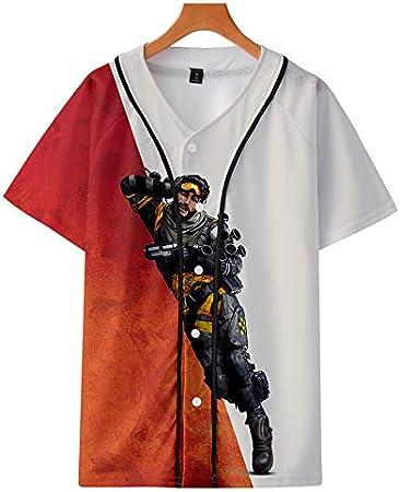 Camisa De Béisbol De Verano En 3D, Ropa Casual Fina para Hombres Y Mujeres, Juegos De Deportes Electrónicos,A,XXL: Amazon.es: Hogar