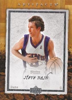 - Steve Nash 2007-08 Upper Deck Artifacts NBA Basketball Card #74 Phoenix Suns