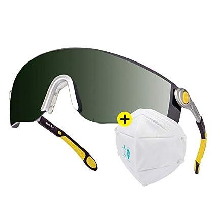 CHAIZIYU Soldador de Gafas Soldador Seguro Laboral Especial antirreflejo Gafas Protectoras para soldar Las Gafas Protectoras