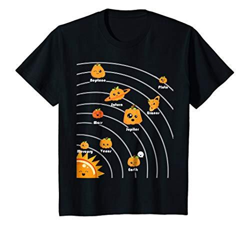 Kids Planet T Shirt Funny Pumpkin Planets Halloween
