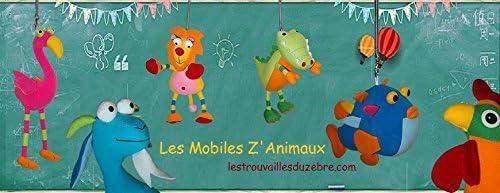mobile d/écoratif chambre enfant mobile /à ressort Mobile Chat suspension d/écorative chambre b/éb/é les trouvailles du z/èbre Mobiles ZAnimaux