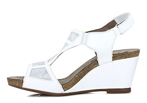 Mephisto - Sandalias de Vestir de Otra Piel Mujer blanco