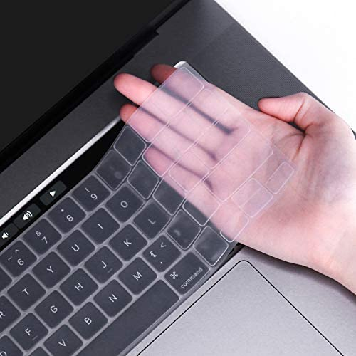 FORITO Ultra Thin Keyboard Cover CompatibleMacBook Pro 16 inch A2141 2019 ReleaseTouch Bar and Touch ID Model -Clear