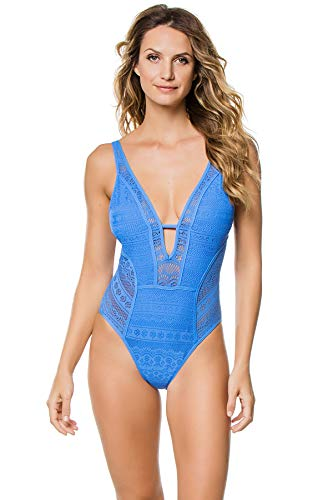 Becca-by-Rebecca-Virtue-Womens-Plunge-Crochet-Lace-One-Piece-Swimsuit-Swimsuit