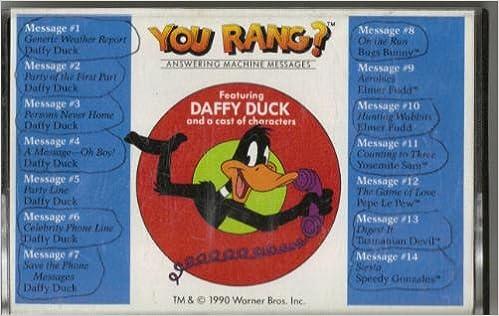 You rang daffy duck answering machine messagesaudio cassette daffy duck answering machine messagesaudio cassette 9780886766573 amazon books m4hsunfo