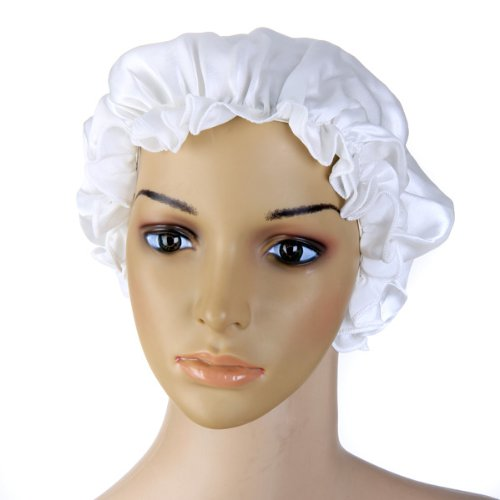 Pure Silk Night Sleep Cap Sleeping Cap Hat (White), Outdoor Stuffs