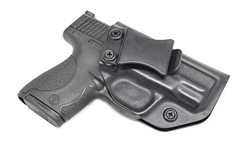 Concealment Express IWB KYDEX Holster: fits Smith & Wesson M&P Shield 9/40 - Custom Fit - US Made - Inside Waistband - Adj. Cant/Retention (BLK, Right) (40 M&p Kydex Holster)