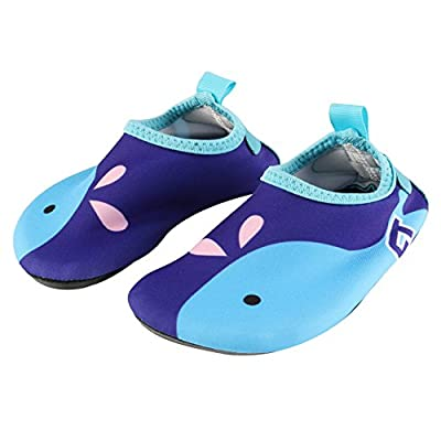 Baby Water Shoes Barefoot Aqua Socks Kids Quick-Dry Water Shoes for Beach Pool Surfing Yoga Exercise