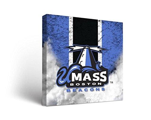 Victory Tailgate Massachusetts Boston UMass Beacons Canvas Wall Art Vintage Design (12x12)