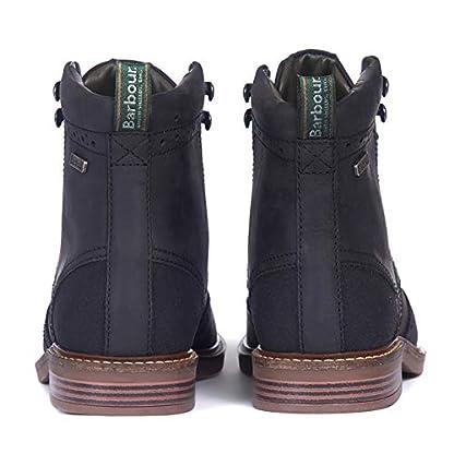 Barbour Mens Seaton Leather Walking Comfort Casual Smart Work Metal Logo Boots - Teak 3