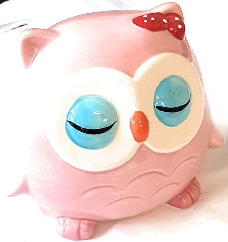 Hucha infantil búho de dinero caja, diseño de búhos, color rosa ideal para regalo: Amazon.es: Hogar