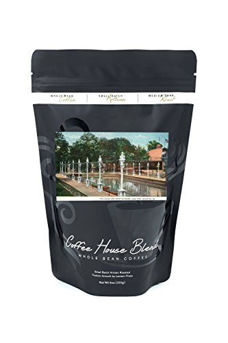 Scranton, Pennsylvania - Luna Park; View of the Lagoon and Merry-Go-Round (8oz Whole Bean Small Batch Artisan Coffee - Bold & Strong Medium Dark Roast (Round Roast)
