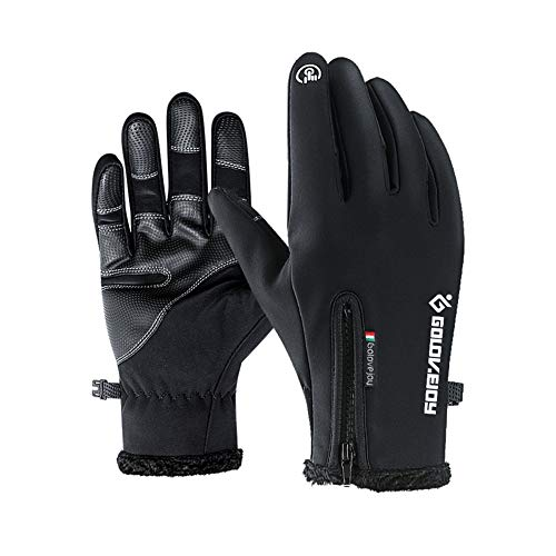 - Jeniulet Mens Winter Warm Gloves Waterproof and All Finger Touch Screen Gloves for Cycling and Outdoor Work
