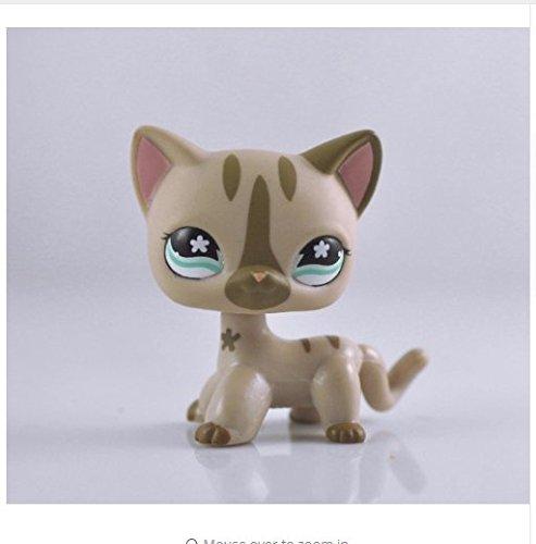 - Littlest Pet Shop LPS Toy Pet Short Hair Cat Animal Child Girl Boy Figure Loose Cute Standing Cat Mask Short Hair (choose your cat) for kids gift 1pc