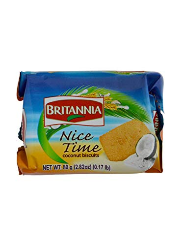 Britannia Nice Time Coconut Biscuits - 80g., 2.82oz. (Pack of -