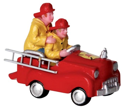 Trains Pedal (Lemax 22029 Pedal Car Firemen Figure Christmas Village Figures Figurine Figurines Accessory)