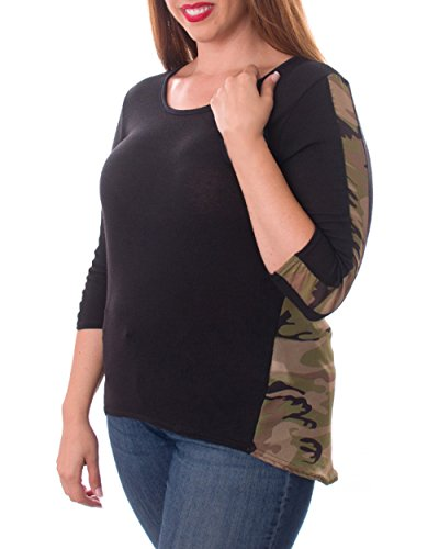 Plus-Size-Canada-Camouflage-Top
