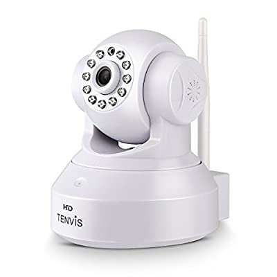 Smart Security Camera, Baby Monitor, TENVIS JPT3815W-HD 720P (2016 Upgraded) H.264 Megapixel P2P Wireless Surveillance IP/Network Security Camera, Night Vision, White