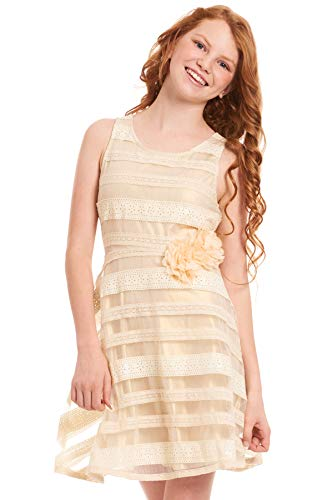 Hannah Banana, Big Girls Tween Embellished Party Dress, 7-16 (8, Gold Multi)]()