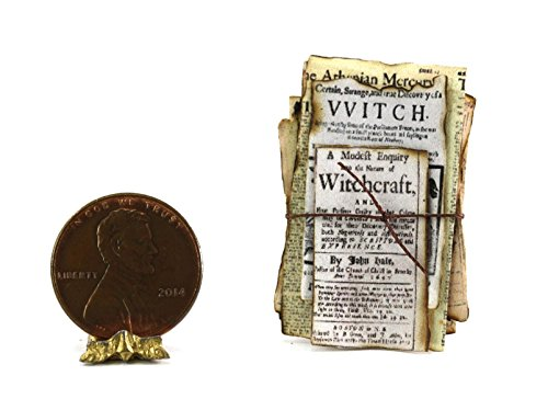 Dollhouse Miniature Artisan Witch039;s Aged Papers for Halloween
