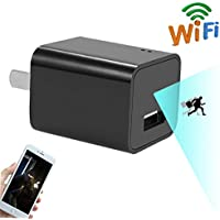 CAMXSW Wifi USB Phone Charger Adapter Camera,HD 1080P P2P Wireless Nanny Cam For Home Security Camera Real-Time Video with Motion Detection Free APP Support Android IOS