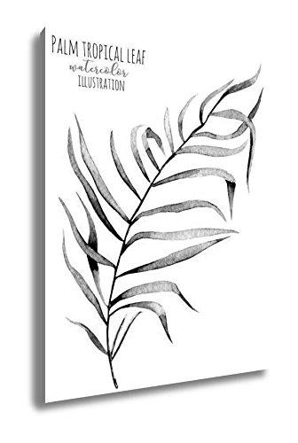 Amazon Com Ashley Canvas Watercolor Palm Tropical Green Branch