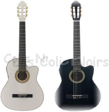 Guitarra Electroacústica Harley Benton negro pila funda: Amazon.es ...