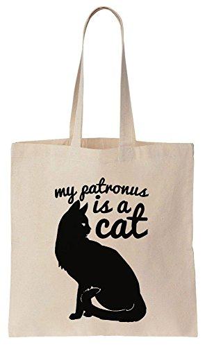 My Patronus Is Cat Sacchetto di cotone tela di canapa