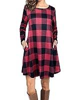 rosemia Womens Long Sleeve Pockets Maxi Dresses...