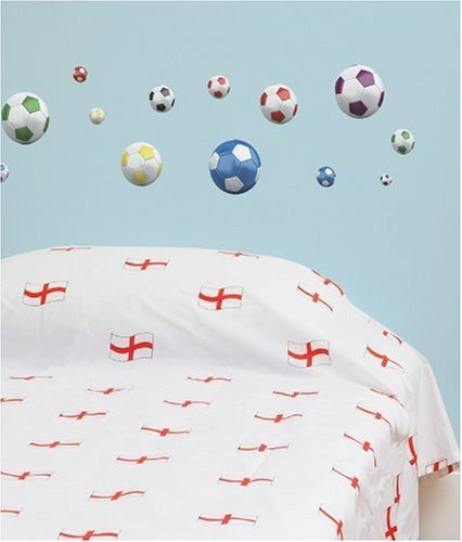 Cheap  FunToSee Soccer Balls Nursery and Bedroom Wall Decals, Soccer
