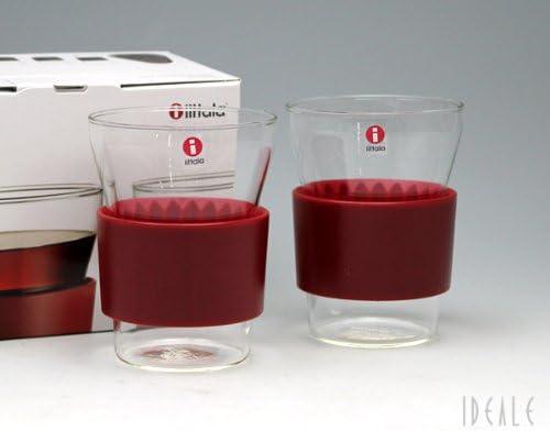 Iittala 950742 HotCool - Vaso de té (34 cl, 2 Unidades), Color Rojo ...