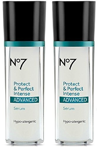 (Boots No7 Protect & Perfect Intense Advanced Anti Aging Serum Bottle - 1 oz (Double Pack))