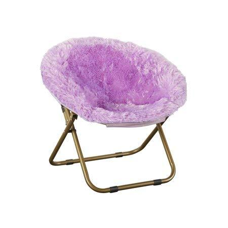Folding Chair Soft/Wide Seat Faux-Fur Plush Kids Blair Saucer in -