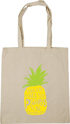 You Life 10 x38cm Make HippoWarehouse Tote When Pineapples Colada Hands litres Gym Natural 42cm Beach Bag Pina Shopping qftZ5w
