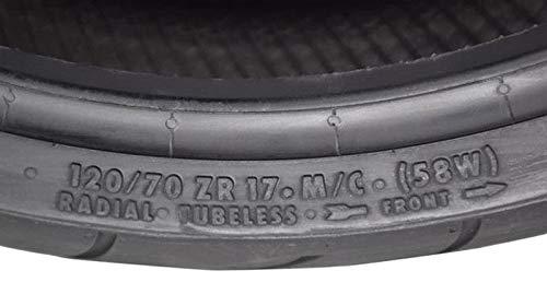 CONTINENTAL MOTION Tire Set 120/70zr17 Front & 180/55zr17 ...