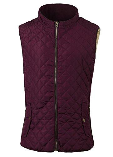 Fanhang Women's Lightweight Quilted Zip Up vest (S, 009 ROSE)