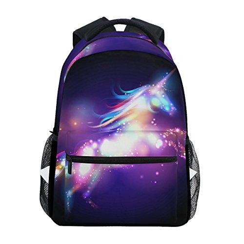 ZZKKO Rainbow Unicorn Abstract Art Backpacks College School Book Bag Travel Hiking Camping Daypack by ZZKKO