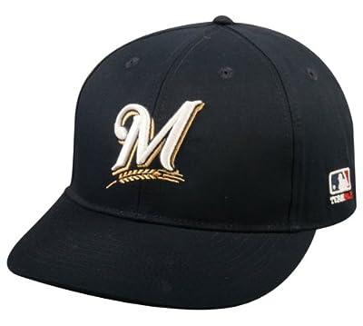 2013 Adult FLAT BRIM Milwaukee Brewers Home Navy Blue Hat Cap MLB Adjustable