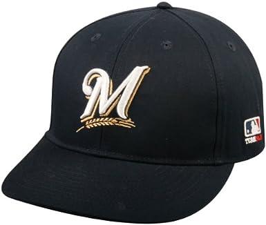 2013 Youth FLAT BRIM Milwaukee Brewers Home Navy Blue Hat Cap MLB Adjustable