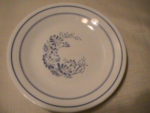 Corning Colonial Mist (Blue Floral) Bread & Butter Plates - One (1) Plate ()