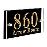 Modern Address Sign Plaque Office Sign Plaque House Numbers Sign Laser Engraved Acrylic BOAD