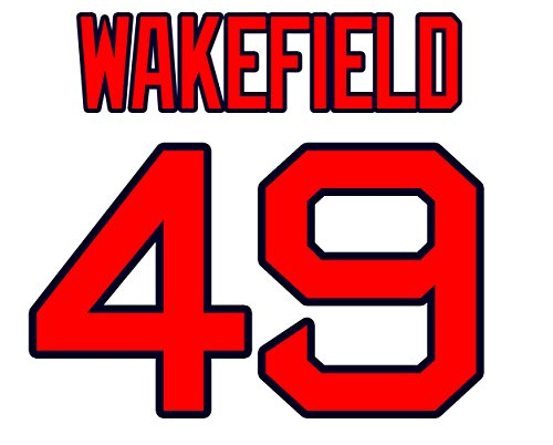 Tim Wakefield Boston Red Sox Jersey Number Kit, Authentic Home Jersey Any Name or Number Available