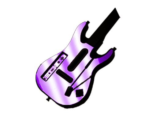 Guitar Hero 5 (GH5) World Tour for Nintendo Wii Skin - NEW - PURPLE CHROME MIRROR system skins faceplate decal mod