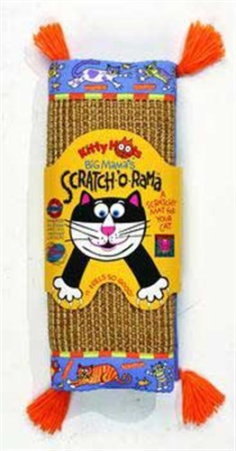 Fat Cat Kitty Hoots Big Mama's Scratch-O-Rama Scratchy Mat, Colors Vary, My Pet Supplies