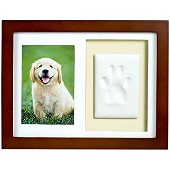 Amazon.com: Petacc Pet Memorial Picture Frame Pet Paw Print Photo ...