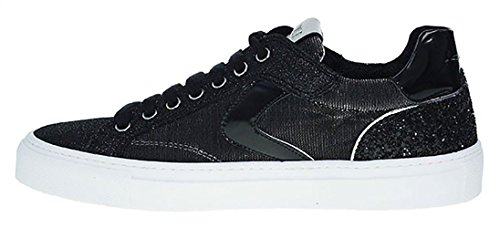 Voile Blanche | Capri Sneaker Net Glitter | schwarz Schwarz